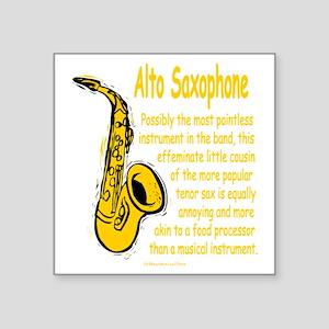 """Alto Saxophone Square Sticker 3"""" x 3"""""""