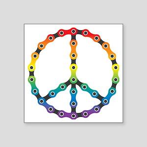 """peace chain vivid Square Sticker 3"""" x 3"""""""