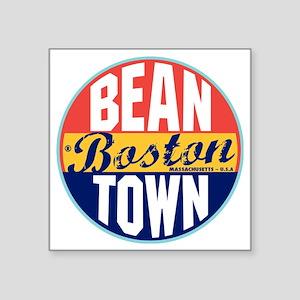 "Boston Vintage Label W Square Sticker 3"" x 3"""
