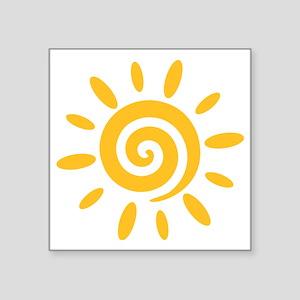 "sun_2010_twist Square Sticker 3"" x 3"""
