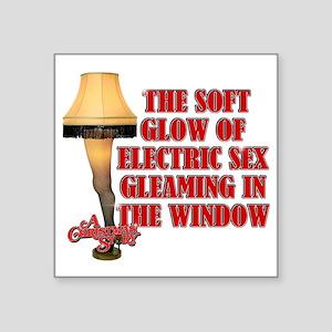 "Electric Sex Square Sticker 3"" x 3"""