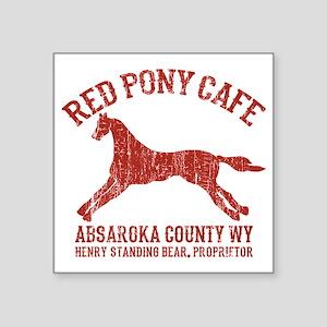 "Longmire Red Pony Square Sticker 3"" x 3"""