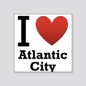 "I-Love-Atlantic-City Square Sticker 3"" x 3"""