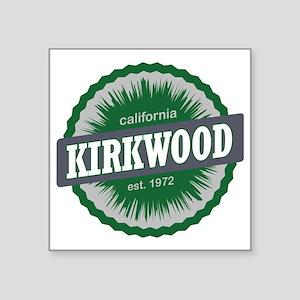 "Kirkwood Mountain Resort Sk Square Sticker 3"" x 3"""