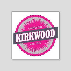 "Kirkwood Mountain Ski Resor Square Sticker 3"" x 3"""
