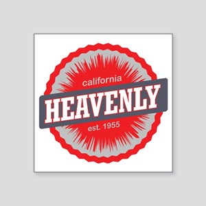 "Heavenly Mountain Ski Resor Square Sticker 3"" x 3"""