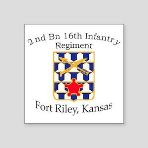"2nd Bn 16th Infantry Square Sticker 3"" x 3"""