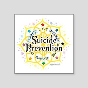 """Suicide-Prevention-Lotus Square Sticker 3"""" x 3"""""""