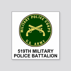 "Army-519th-MP-Bn-Shirt-4.gi Square Sticker 3"" x 3"""