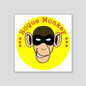 """RogueMonkeyColor1 Square Sticker 3"""" x 3"""""""