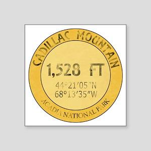 """Cadillac Mountain Square Sticker 3"""" x 3"""""""