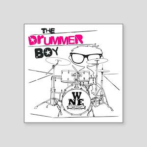 "THE DRUMMER BOY T-SHIRT Square Sticker 3"" x 3"""