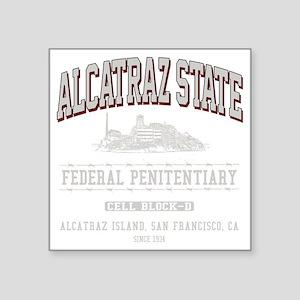 """ALCATRAZ_STATE_lcp Square Sticker 3"""" x 3"""""""