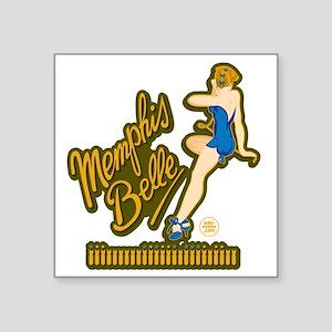 """Memphis Belle Blue Nose Art Square Sticker 3"""" x 3"""""""
