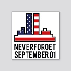 "911SeptA Square Sticker 3"" x 3"""