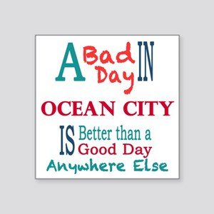 "Ocean City Square Sticker 3"" x 3"""