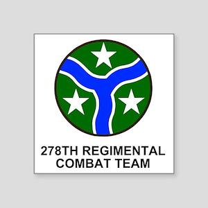 """ARNG-278th-RCT-Shirt Square Sticker 3"""" x 3"""""""