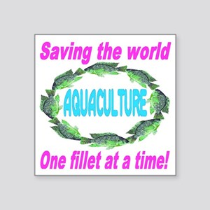 "Aquaculture Square Sticker 3"" x 3"""