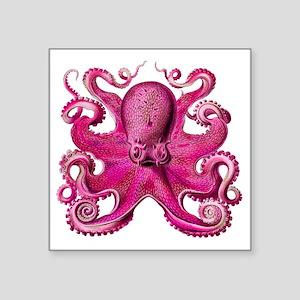 "Pink Octopus Square Sticker 3"" x 3"""