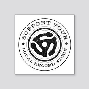 "RecordStoreReduxInvert Square Sticker 3"" x 3"""
