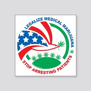 "Legalize-Marijuana-Stop-Arr Square Sticker 3"" x 3"""