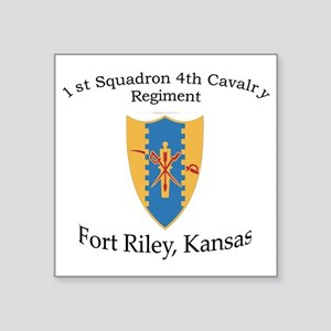 "1st Squadron 4th Cav Square Sticker 3"" x 3"""