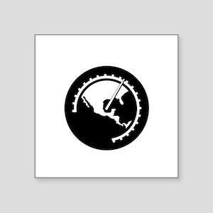 "halfthrottle-logo-white for Square Sticker 3"" x 3"""