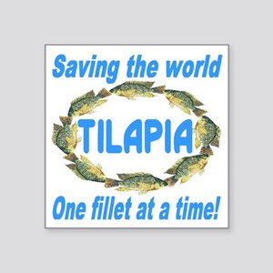 "Spectacular Tilapia Ellipse Square Sticker 3"" x 3"""
