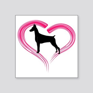 "DobermanLove Square Sticker 3"" x 3"""