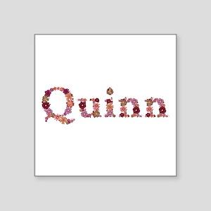 Quinn Pink Flowers Square Sticker