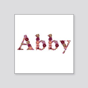 Abby Pink Flowers Square Sticker