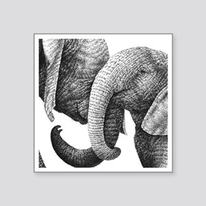 "African Elephants 60 inch C Square Sticker 3"" x 3"""