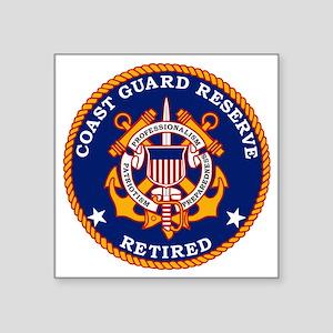 "USCGR-Retired-Bonnie Square Sticker 3"" x 3"""