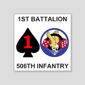 "2-Army-506th-Infantry-1st-B Square Sticker 3"" x 3"""