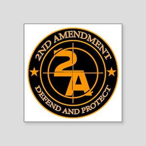 "2ND Amendment 3 Square Sticker 3"" x 3"""