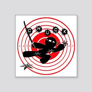 """Chuck Ninja Man Assassin Ta Square Sticker 3"""" x 3"""""""