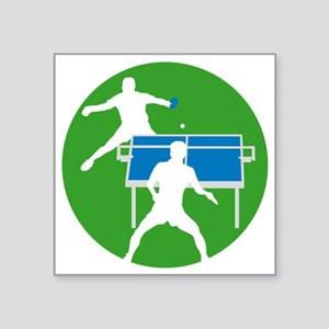 """male table tennis players Square Sticker 3"""" x 3"""""""