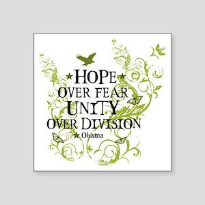 """obama_vine_hope_division_wh Square Sticker 3"""" x 3"""""""