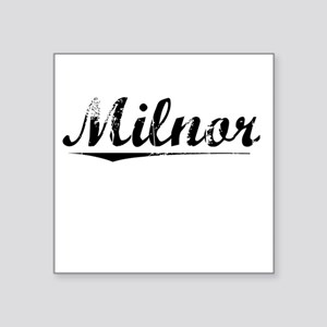 "Milnor, Vintage Square Sticker 3"" x 3"""