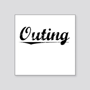 "Outing, Vintage Square Sticker 3"" x 3"""
