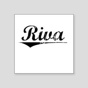 """Riva, Vintage Square Sticker 3"""" x 3"""""""