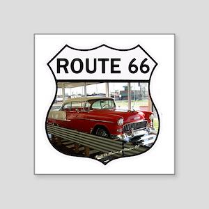 """Route 66 Museum - Clinton,  Square Sticker 3"""" x 3"""""""