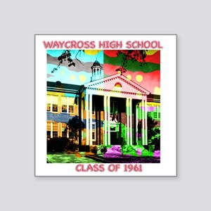 "WAYCROSS HI POP_Dark Square Sticker 3"" x 3"""