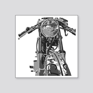 "Bonnie Motorcycle Square Sticker 3"" x 3"""