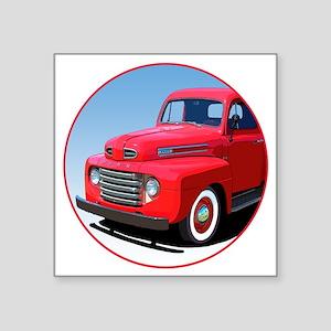 "1948-50 F-1-C10trans Square Sticker 3"" x 3"""