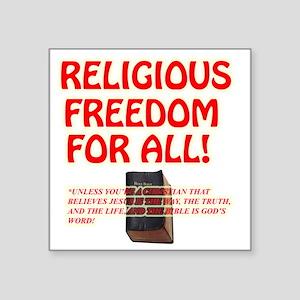 "RELIGIOUSTOL Square Sticker 3"" x 3"""
