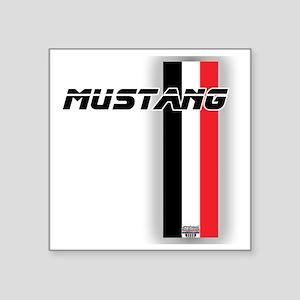 "mustangBWR Square Sticker 3"" x 3"""