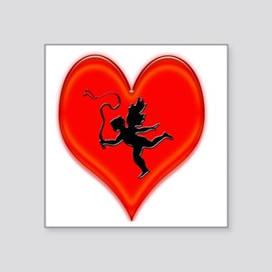 "cupid whip me valentine Square Sticker 3"" x 3"""