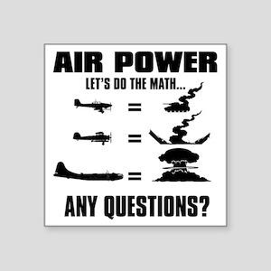 "Air Power Square Sticker 3"" x 3"""