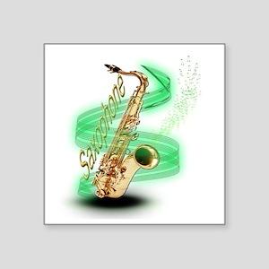 "Saxophone wrap Square Sticker 3"" x 3"""